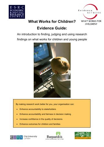 Evidence Guide - What Works for Children