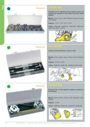 GOVONI - Specialty Automotive Tools - www.govoni.it 9 Timing tools ...