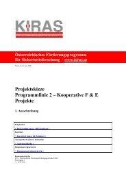 Projektskizze Programmlinie 2 – Kooperative F & E Projekte - KIRAS ...