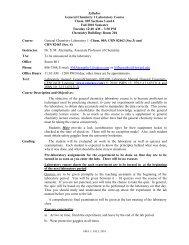 General Chemistry Lab I - 82462, 82463 - CHEM 005 - COAS
