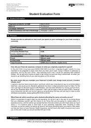 Student Evaluation Form - Victoria University of Wellington
