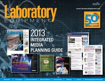 the 2013 Media Kit and Editorial Calendar - Laboratory Equipment