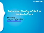 Automated Testing of SAP at Kimberly-Clark
