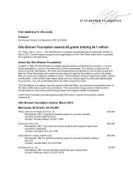 Otto Bremer Foundation awards 88 grants totaling $4.1 million