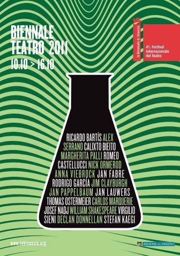 programma - La Biennale di Venezia