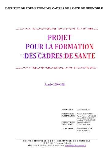 Projet pour la formation 2010-2011 version définitive - CHU Grenoble