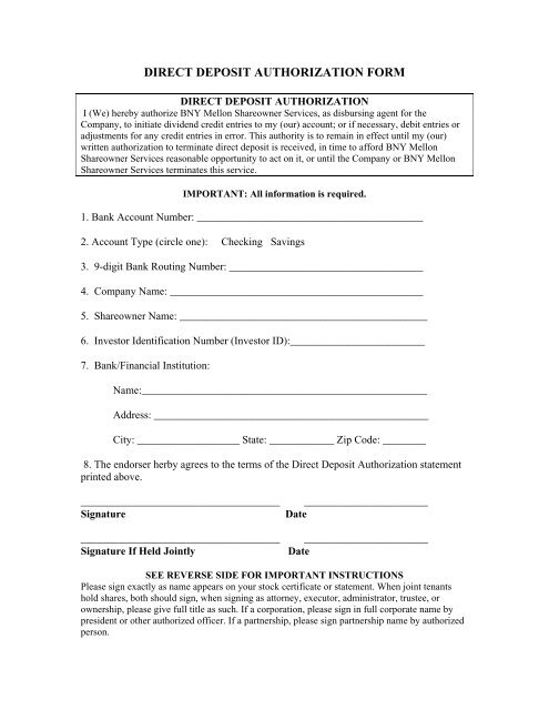 direct deposit form  DIRECT DEPOSIT AUTHORIZATION FORM - PepsiCo