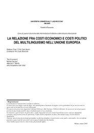 la relazione fra costi economici e costi politici del multilinguismo nell ...