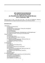 DIPLOMPRÜFUNGSORDNUNG für den Studiengang Physik - ZSB ...