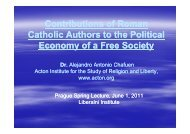 Contributions of Roman Catholic Authors to the Political Economy of ...