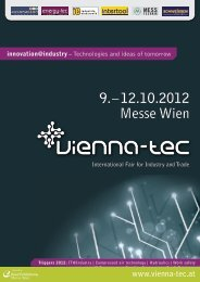 The Innovation Mall Close-up on Central and ... - Vienna-Tec 2012