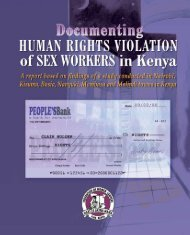 Documenting Human Rights Violations of Sex Workers in Kenya
