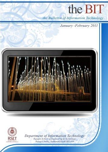 the BIT - Jan - Feb 2011 - Rajagiri School of Engineering ...