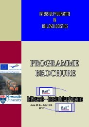 RailNewcastle ERASMUS INTENSIVE RAILWAY PROGRAMME IN ...