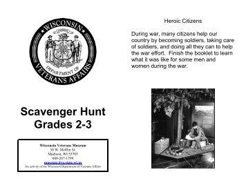 7th-12th Grade Scavenger Hunt