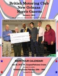 Jan/Feb - British Motoring Club New Orleans