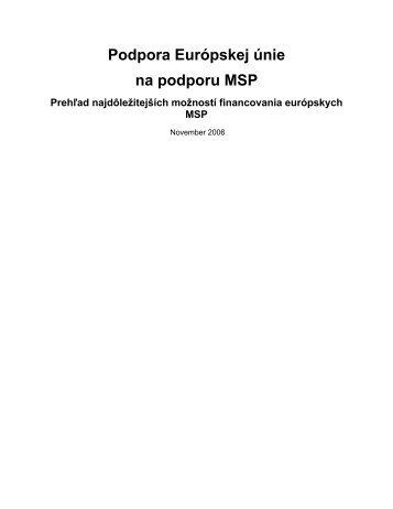 Podpora Európskej únie na podporu MSP - Enterprise Europe ...