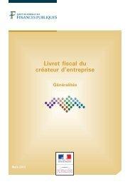 Livret fiscal du créateur d'entreprise - Chambre d'agriculture