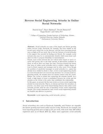 Reverse Social Engineering Attacks in Online Social Networks