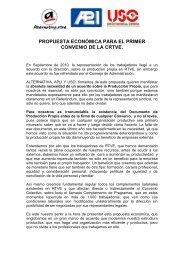 propuesta económica para el primer convenio de la crtve. - RTVE.es