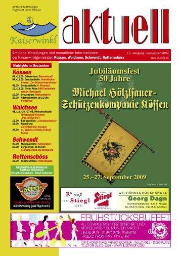 Kaiserwinkl-Aktuell 09/2009 - Gemeinde Walchsee - Land Tirol