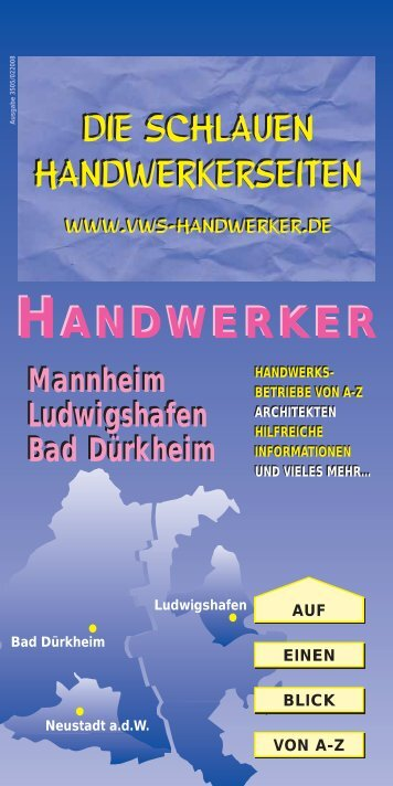 35/05 Mannheim/Ludwigshafen/Bad Dürkheim - VWS Handwerker ...