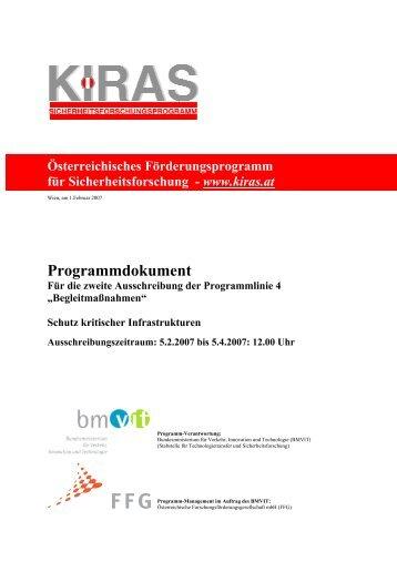 Programmdokument - KIRAS Sicherheitsforschung