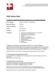 Protokoll - VBSF