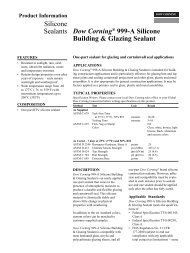 Dow Corning® 999-A Silicone Building & Glazing ... - Crlaurence.com