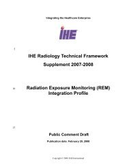 IHE TF Supplement-Radiation Dose Profile