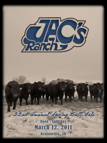 22nd Annual Spring Bull Sale - Angus Journal