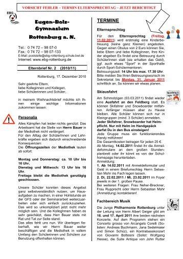 Elternbrief - Eugen-Bolz-Gymnasium Rottenburg