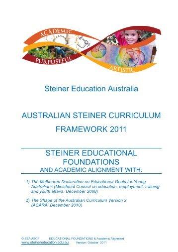 Australian Steiner Curriculum Framework 2011 - Steiner Education ...