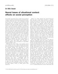 Neural bases of situational context effects on social perception