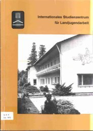 Internationales Studienzentrum für Landjugendarbeit - 26 ...