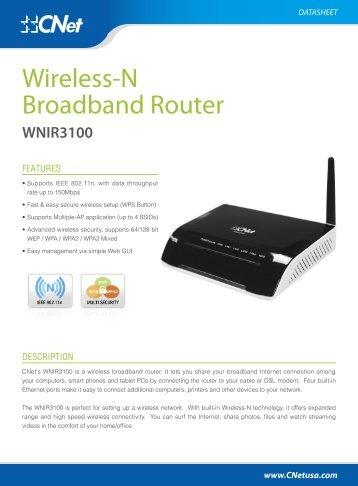 WNIX3100 Datasheets - CNet