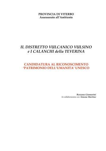 Presentazione del progetto UNESCO - Provincia di Viterbo