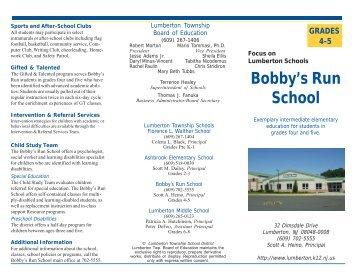 Bobby's Run School Brochure.pmd - Lumberton Township Schools