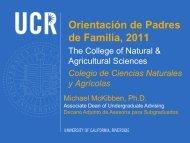 Orientación de Padres de Familia, 2011 - CNAS Undergraduate ...