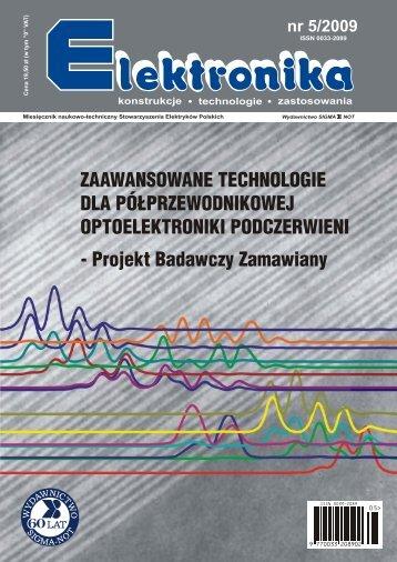 Elektronika 2009-05.pdf - Instytut Systemów Elektronicznych ...