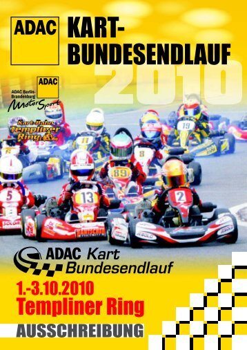 Ausschreibung ADAC Kart-Bundesendlauf 2010