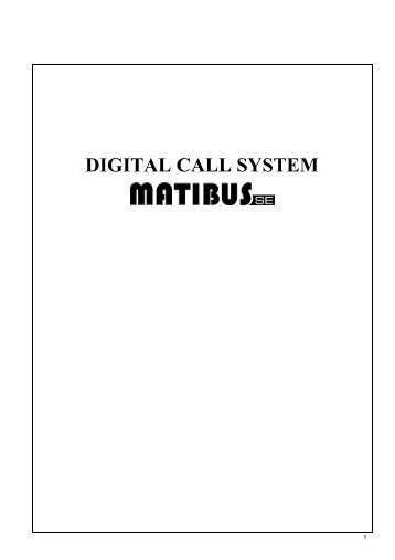 DIGITAL CALL SYSTEM - Urmet