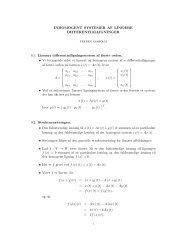 Inhomogent systemer af lineære differentialligninger.