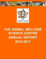 the animal welfare science centre annual report 2010-2011