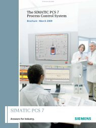 The SIMATIC PCS 7 Process Control System - Industry