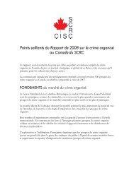 Points saillants du rapport de 2008 - Service canadien de ...
