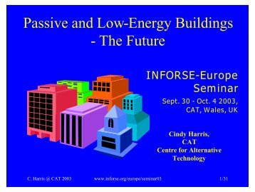 Passive and Low-Energy Buildings - The Future