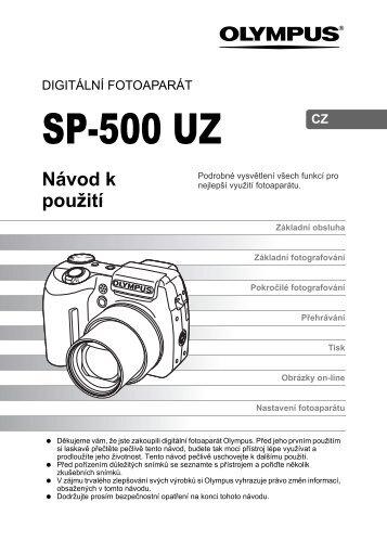 Manuál Olympus SP-500 UZ (CZ)