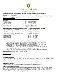 Informationen zur Gartenträume 2013 auf ... - Die Gartenträume