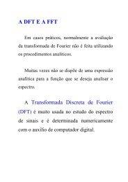 A DFT E A FFT A Transformada Discreta de Fourier